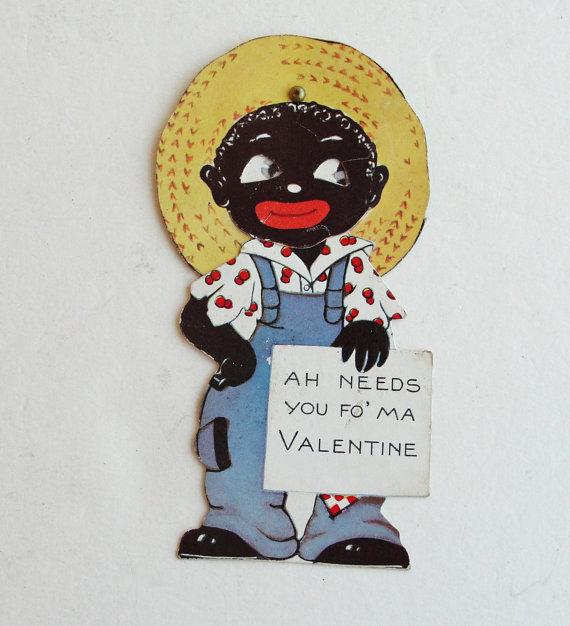 unbelievablyracistvintagevalentinesdaycards1jpg - Vintage Valentines Cards