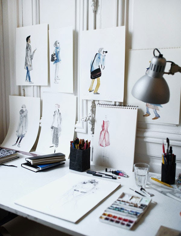 Design Studio Desk Layout