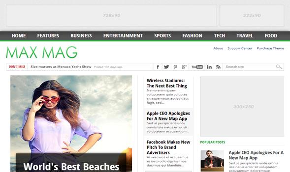 Template Blog MaxMag - SEO Friendly, Cepat, dan Responsif