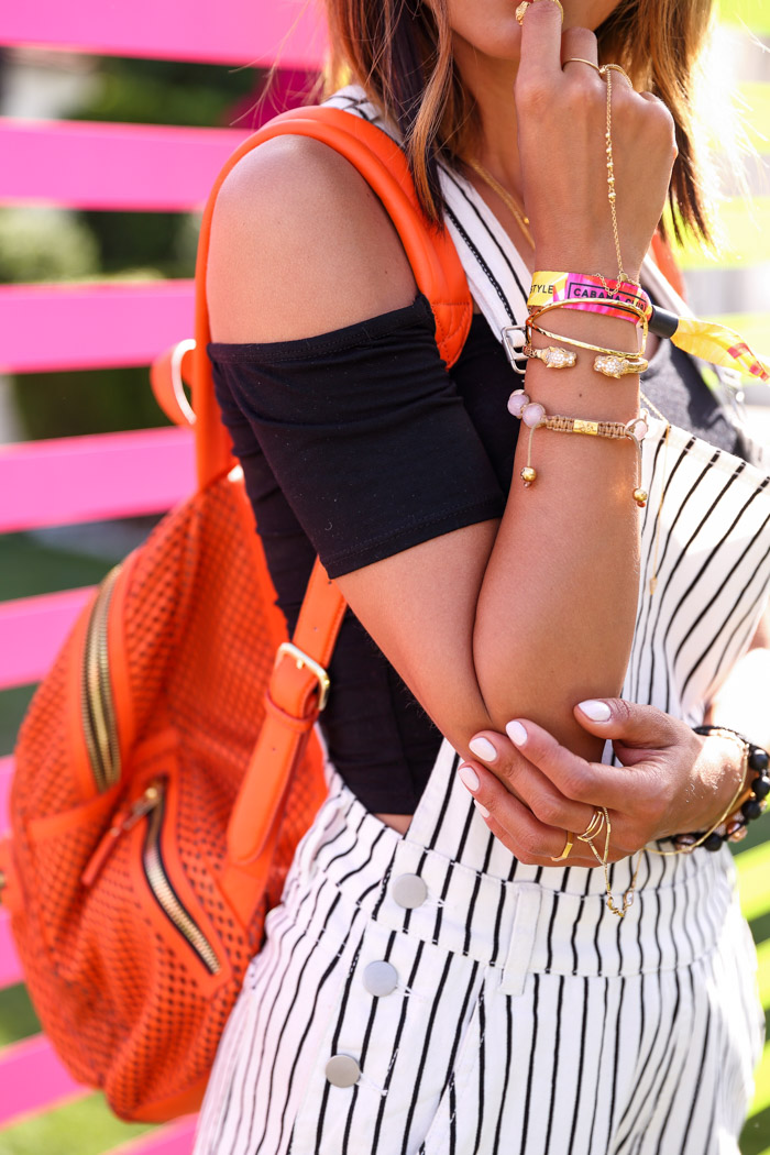 Coachella 2015 jewelry, GORJANA Elea cuff, GORJANA Bali hand chain