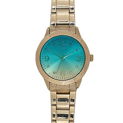 river island watch, turquoise face watch