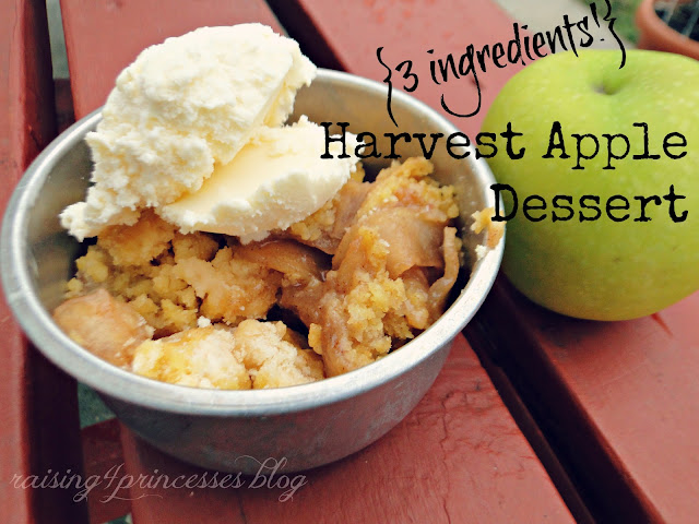 Raising 4 princesses 3 ingredients harvest apple for Easy apple dessert recipes with few ingredients
