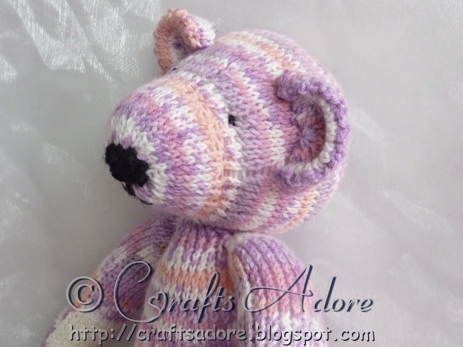 Adorable Knitted Sirdar Snuggly Teddy Bear