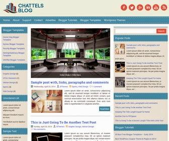 ChattelsBlog - Theme Blogspot cá nhân đơn giản, hài hòa