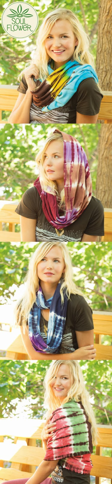 four scarves - Tie-Dye Infinity Scarf: Totally Wishlist Worthy