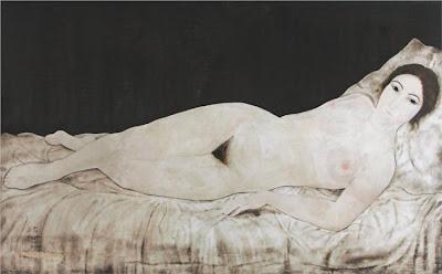 Foujita - Nu allongé, 1922.