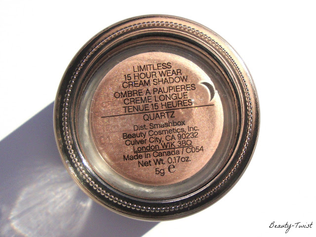 Smashbox Quartz Limitless 15 Hour Wear Cream Eyeshadow; Smashbox Quartz Cream Shadow