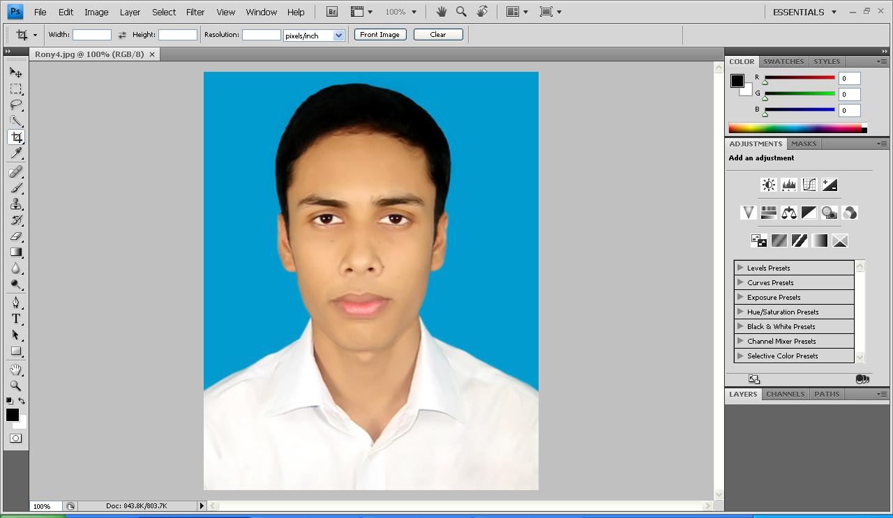 Best Tutorials: Easy way to make passport size image : single photo