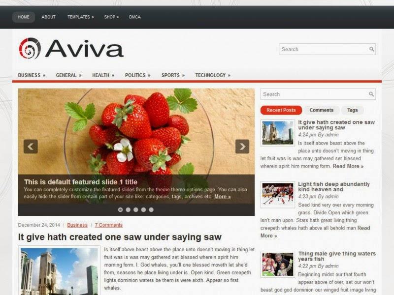 Aviva - Free Wordpress Theme