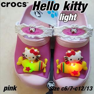 Crocs Hello Kitty lampu pink