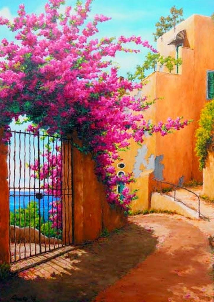Pintura moderna y fotograf a art stica puertas y for Pinturas bonitas para casas