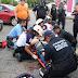 Conductor de camioneta se estrella contra motociclista en esquina de Santa Ana