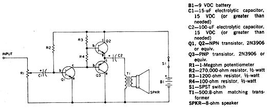 Circuito General : Circuitos electronicos mini amplificador de propósito general