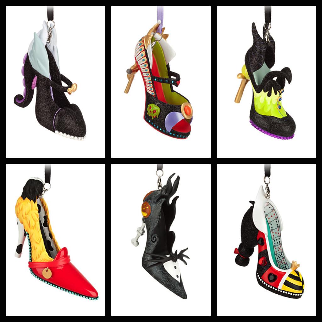 Shoe ornament clips - Villains Shoe Ornaments Photos From Disney Store Website