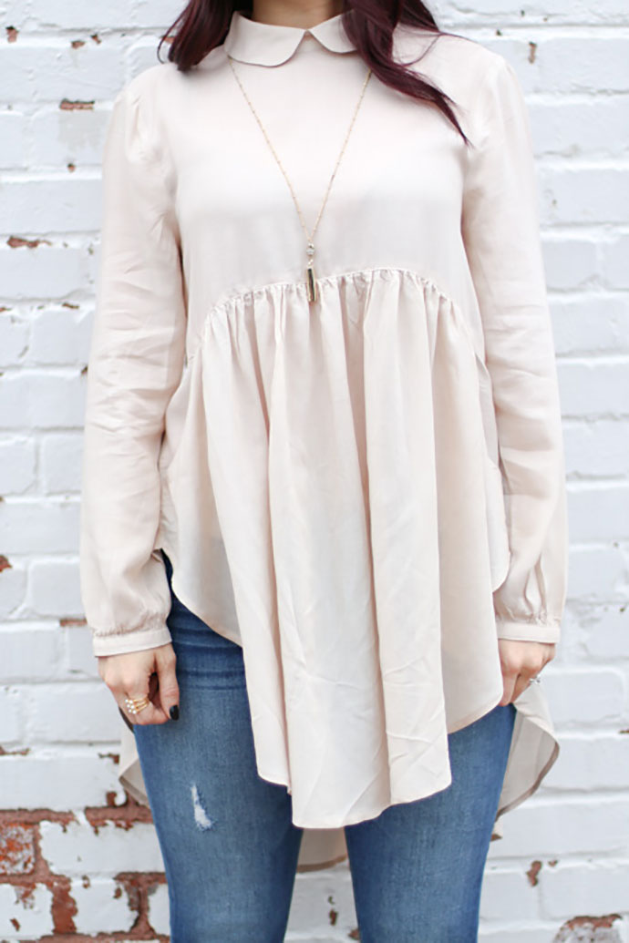 urban outfitters cooperative bree babydoll tunic