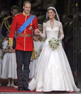 Kate Middleton dress Sarah Burton for Alexander McQueen