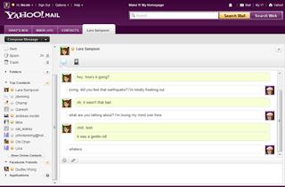 Halaman Web Yahoo! Messenger