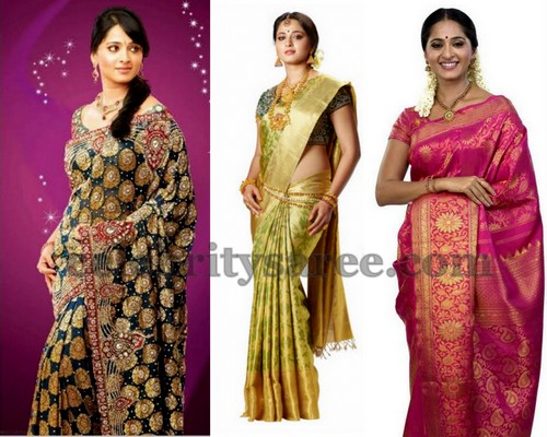 Anushka Wedding Silk Saree Ads