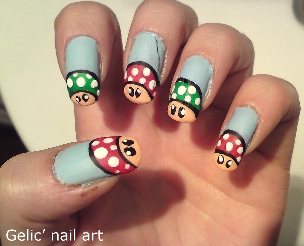 """Nail Art 2012 Swag I googled """"mario nail art"""""""