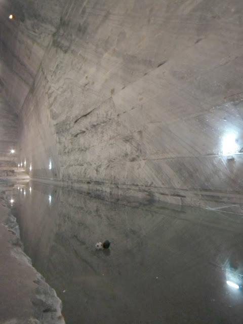 Lake at 208 m underground, Unirea Salt Mine, Slanic Prahova