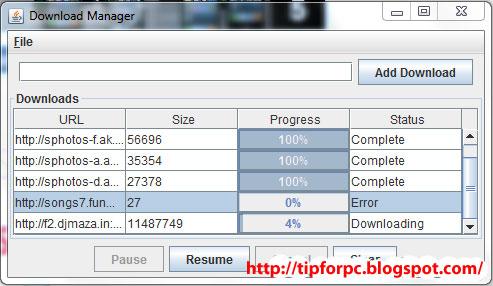 Source Java Mã nguồn Phần Mềm Internet Download Manager