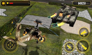 Screenshots of the Helicopter battle 3D for Android tablet, phone.