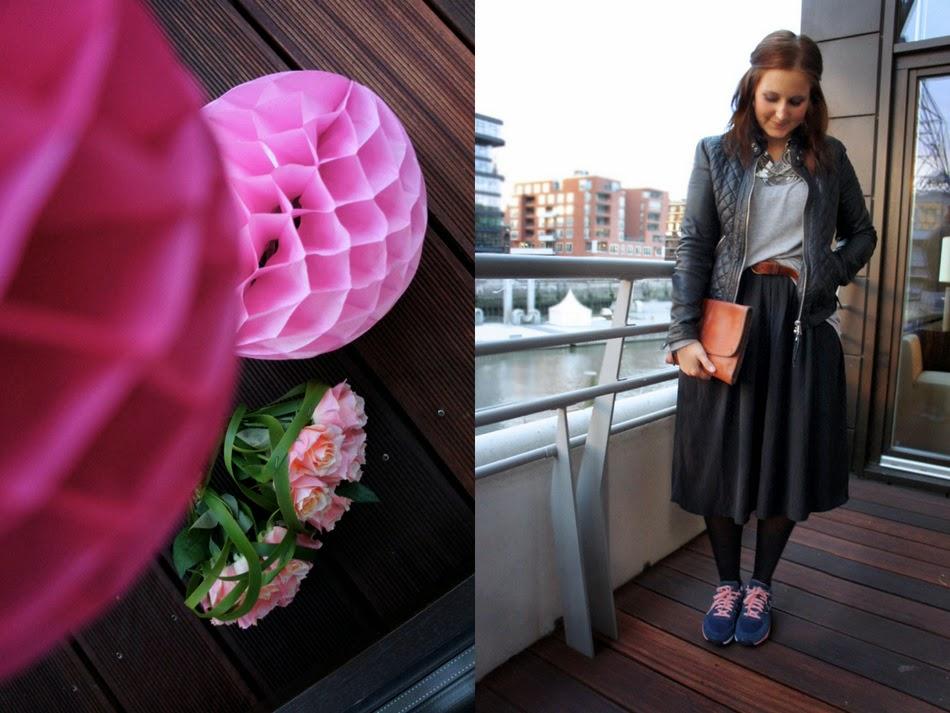 mit schwarzem midirock und neuen turnschuhen c 39 est lali fashionblog aus hamburg. Black Bedroom Furniture Sets. Home Design Ideas
