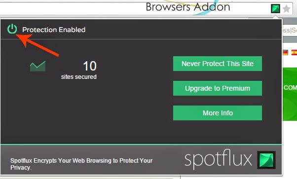 Spotflux-Lite-chrome-enable-disable-protection