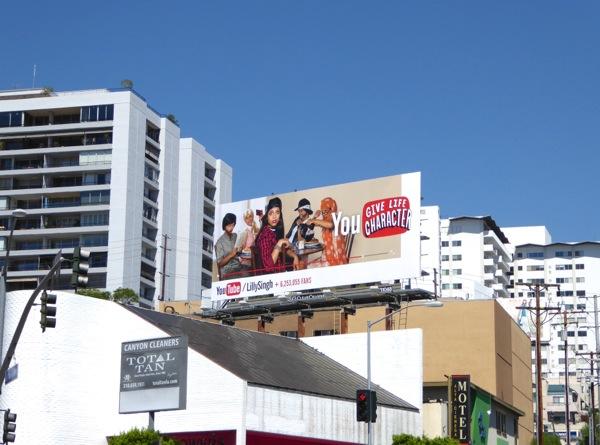 You Tube Lilly Singh billboard