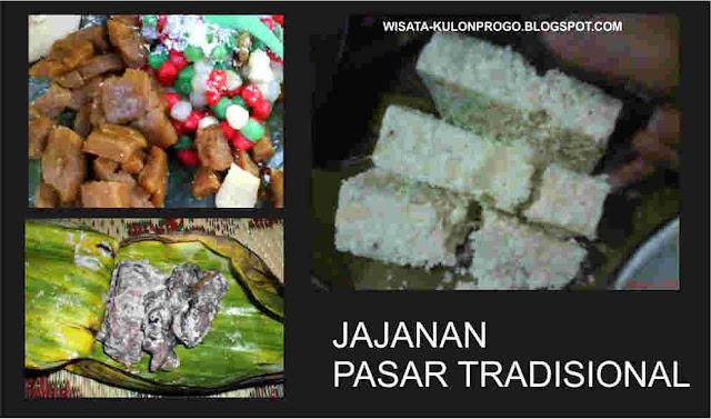 makanan jajanan di pasar tradisional kulonprogo