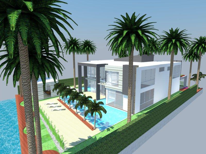 3d modern sketchup house design portfolio website