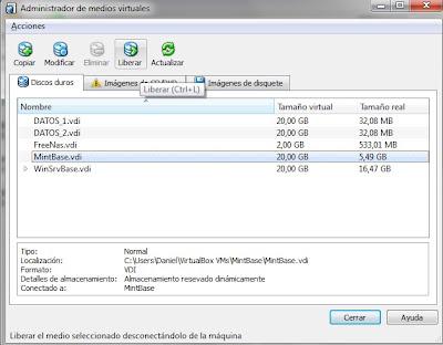 detalles discos virtualbox