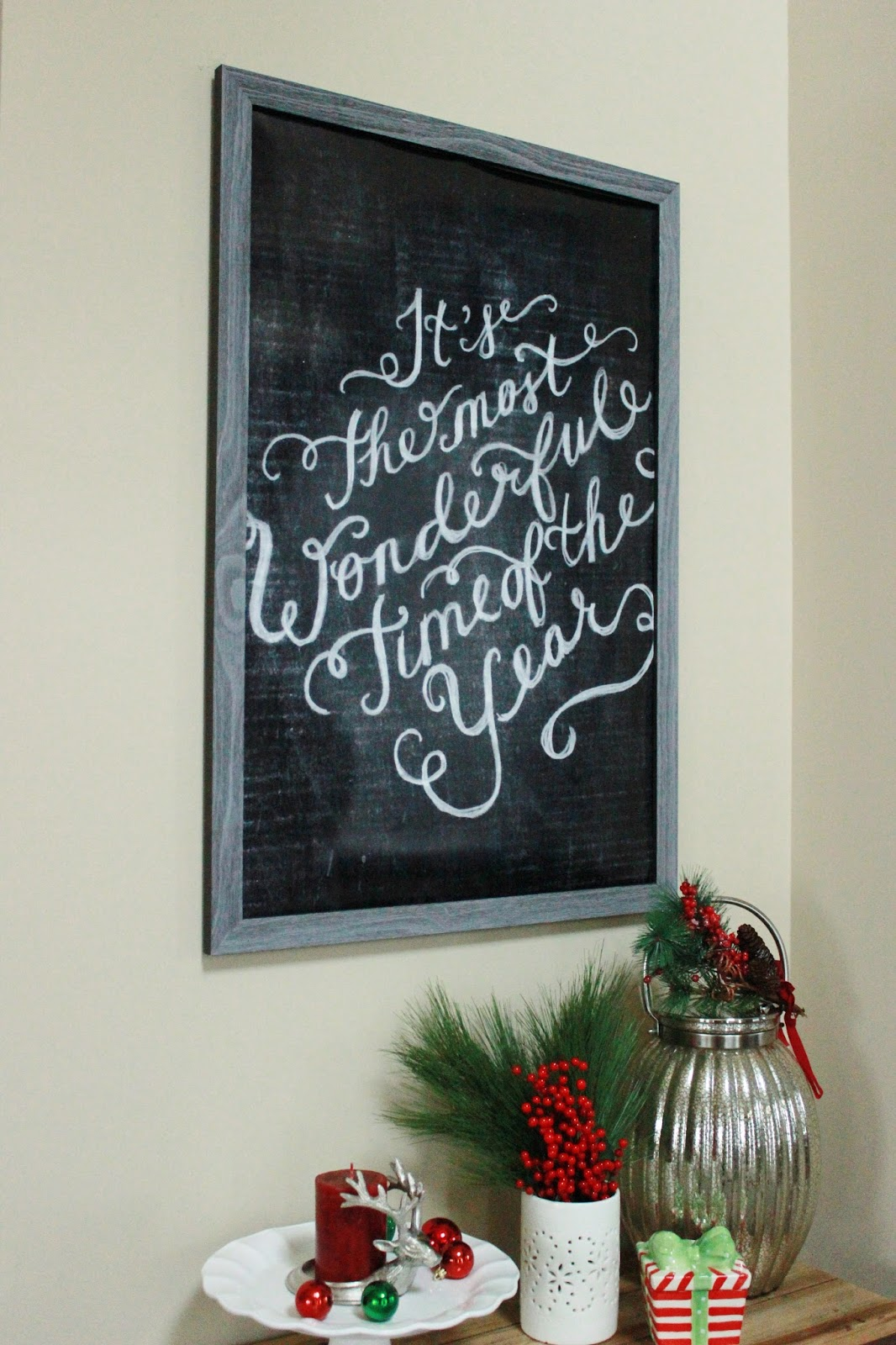 Christmas Chalkboard Wall Art
