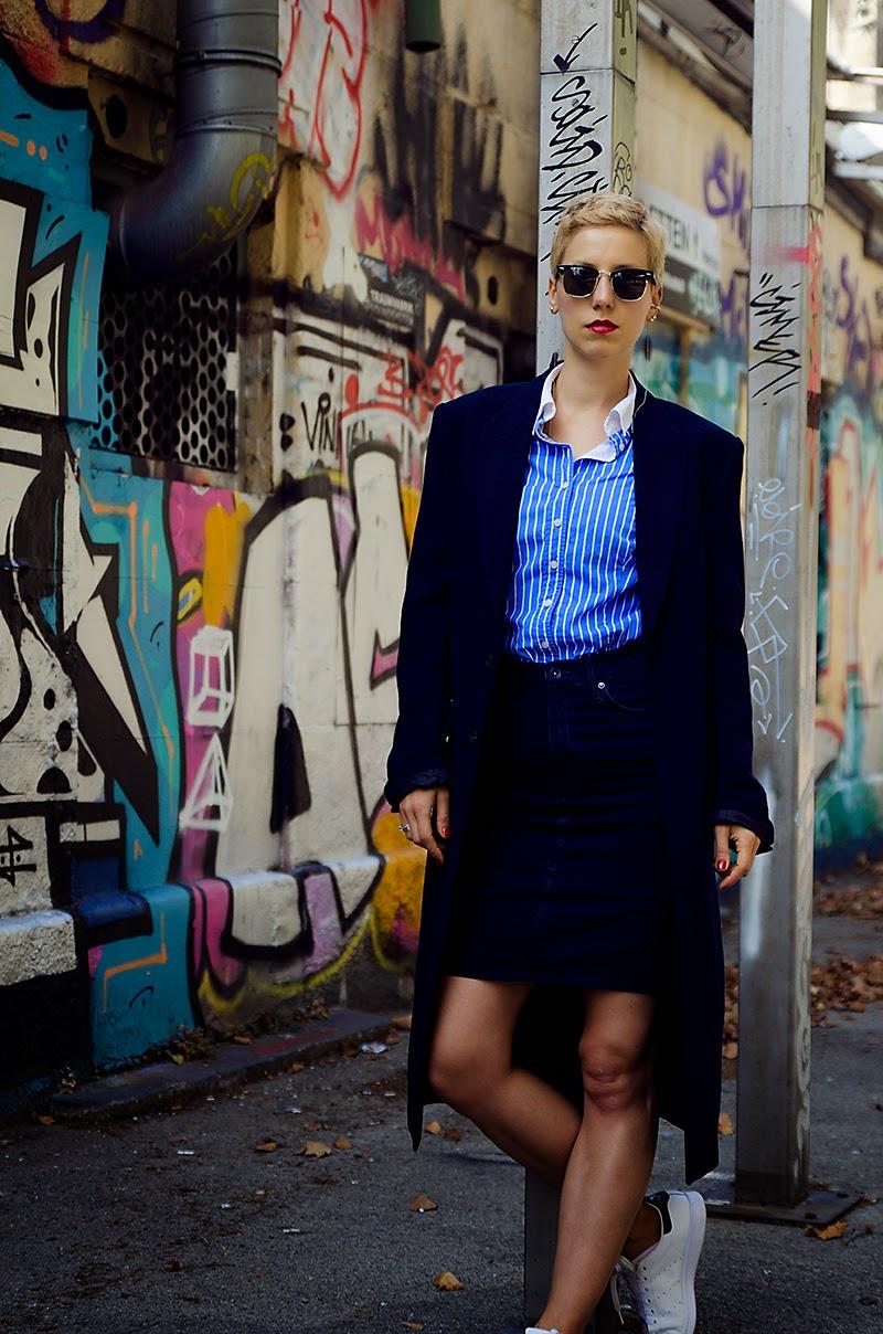 denim pencil skirt h&m denim conscious collection beeswonderland stan smith adidas