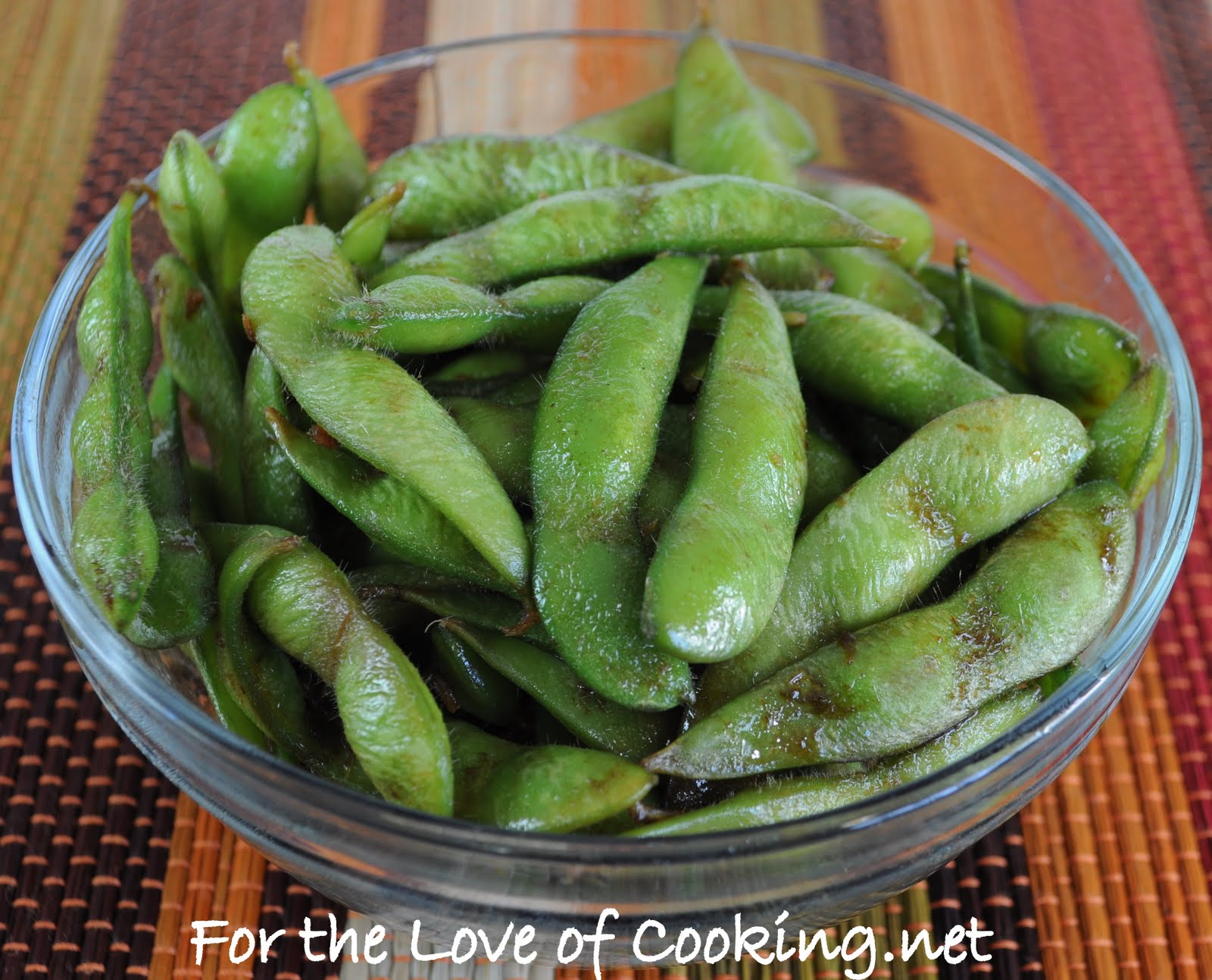 Soy Sesame Edamame | For the Love of Cooking