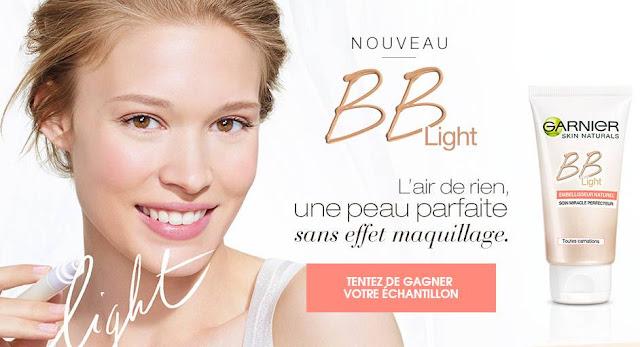 130000 échantillons de la nouvelle BB Light Garnier à Gagner !