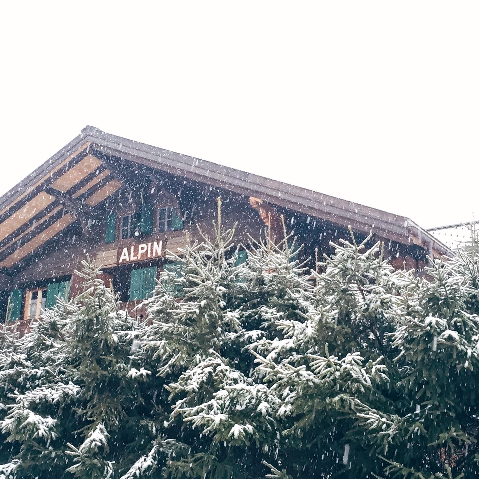snowy chalet in les diablerets