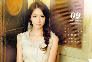 SNSD Yoona Desk Calendar 2013 2