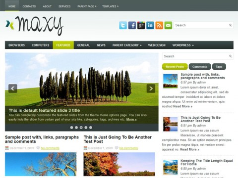 wordpress maxy themes 16 Best 2012 Free WordPress Themes
