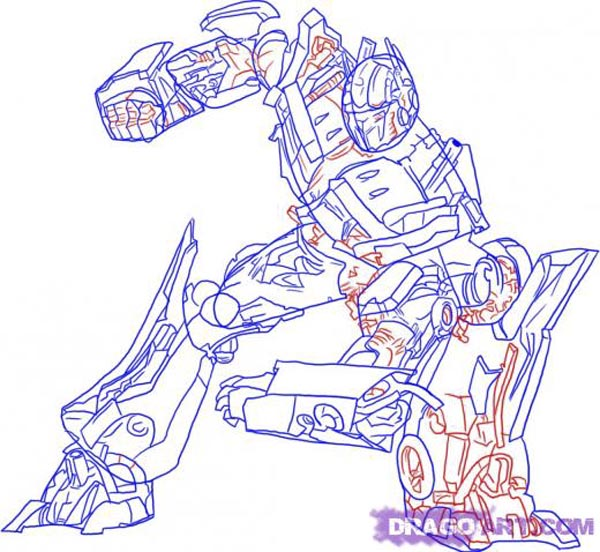 Masami Lauman Transformers Coloring Pages Optimus Prime