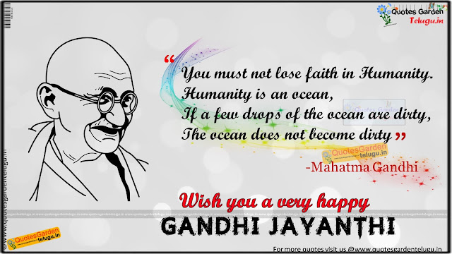 Gandhi jayanti Quotes greetings wallpapers pictures
