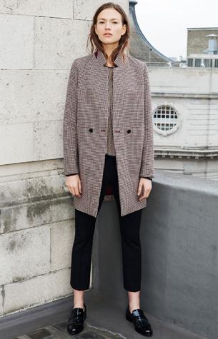 abrigo cuadros mujer Catálogo Zara