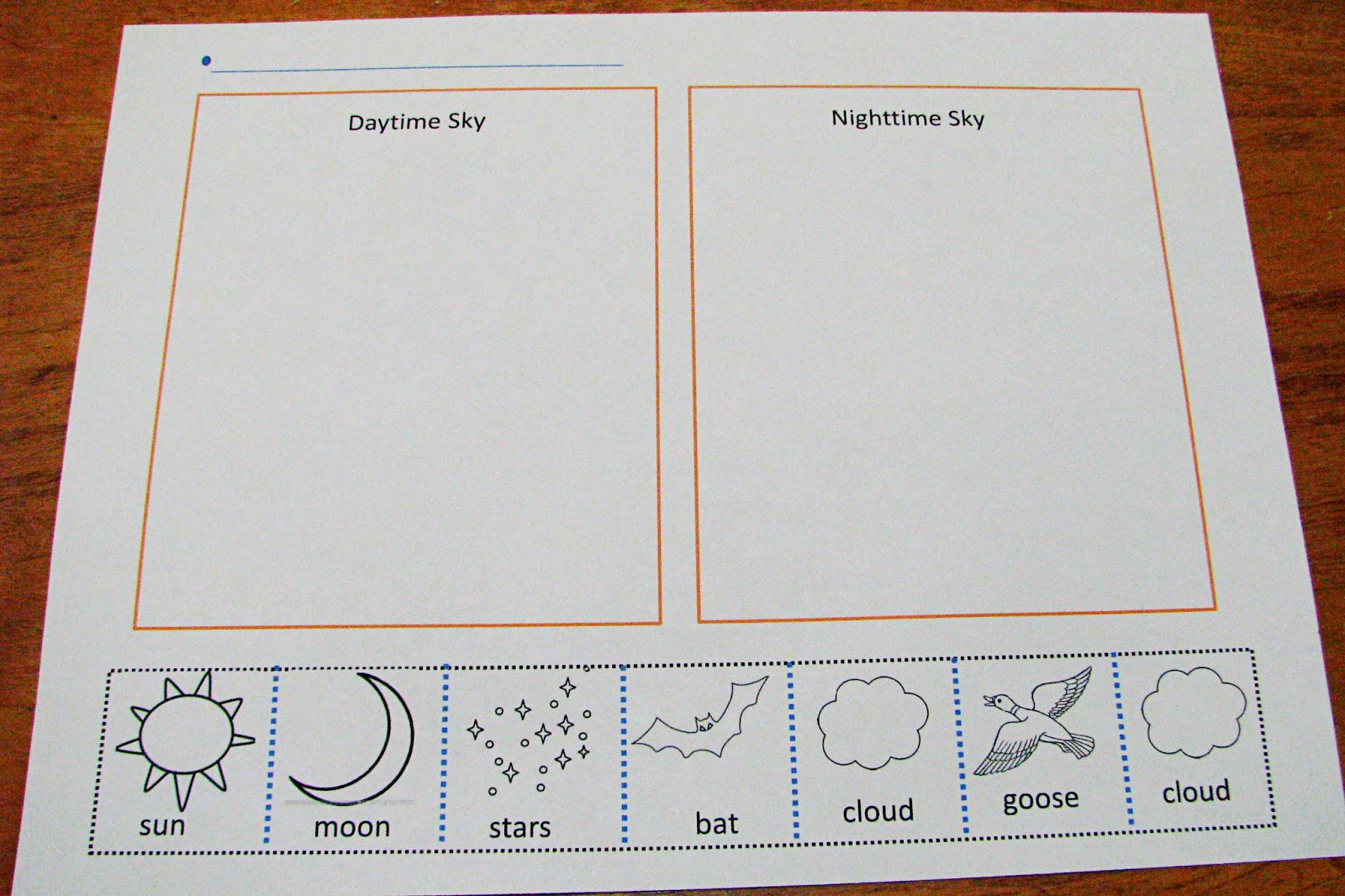 Day And Night Printable Worksheets For Kindergarten