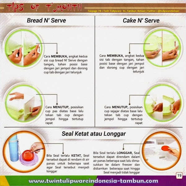 Tip's Of Month, Tips Membuka Menutup Bread N' Serve dan Cake N' Serve