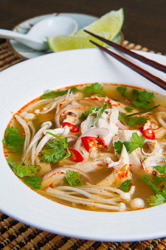 Tom Yum Gai (Thai Hot and Sour Chicken Soup) on Closet Cooking