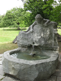Heidi Fountain, near Maienfeld, Switzerland