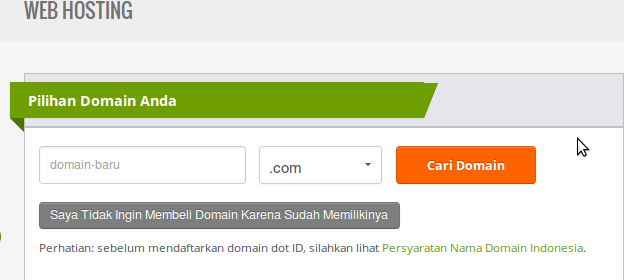 Masukkan Domain niagahoster