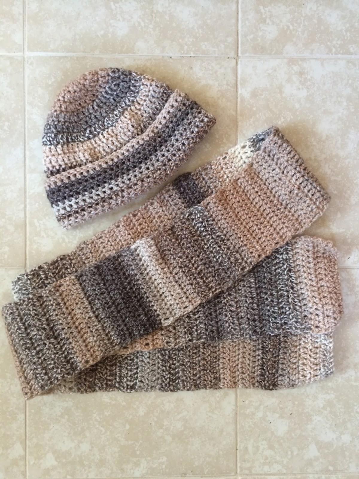 Crochet Men\'s Manly Man Hat and Scarf Set | Not My Nana\'s Crochet!