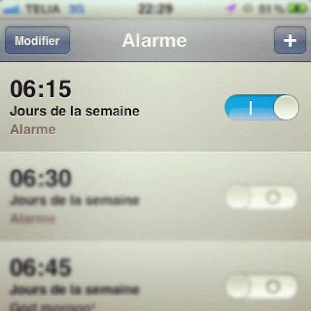 iphone alarm