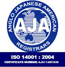 Bio-Tech Environmental's ISO 14001:2004 certificate number from AJA Registrars